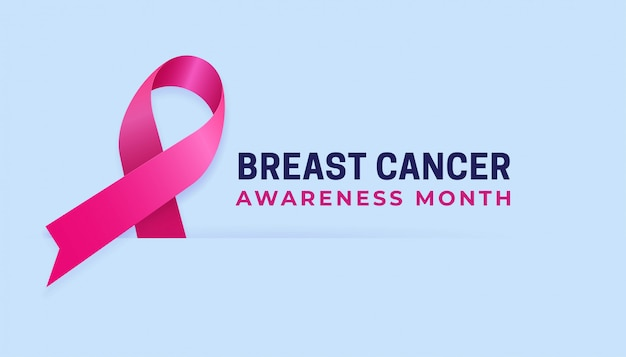 Miesiąc świadomości raka piersi czysty plakat szablon tło