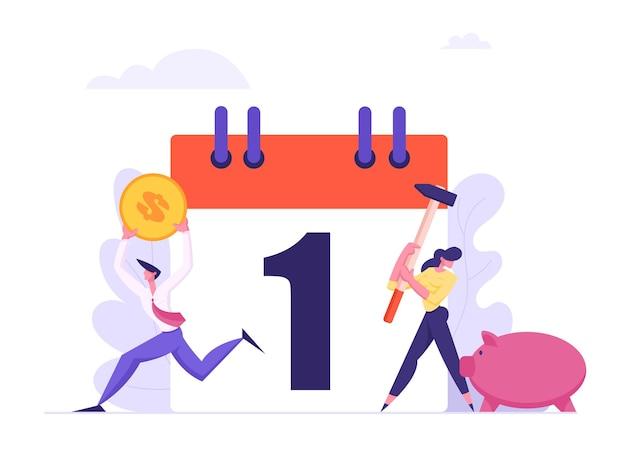 Miesięczna spłata kredytu ilustracja koncepcja
