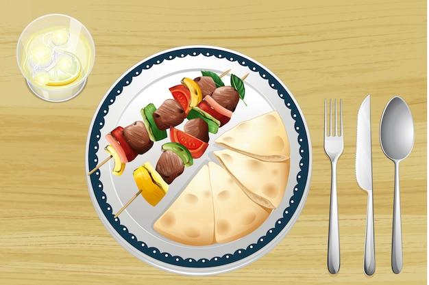 Mięso pluć i chleb