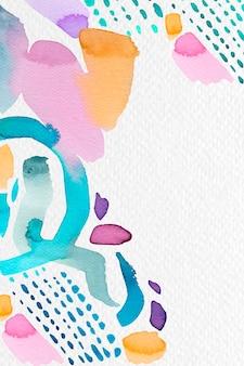 Mieszana farba pędzlem akwarelowym