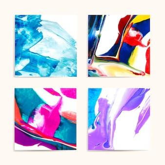 Mieszane obrazy akrylowe
