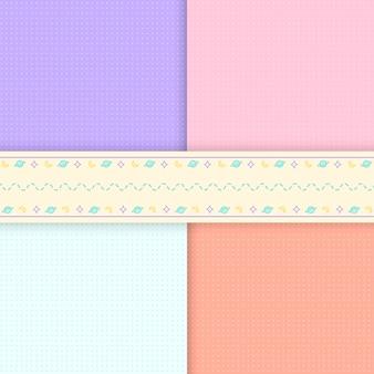 Mieszane wzór pastelowe tło wektorów