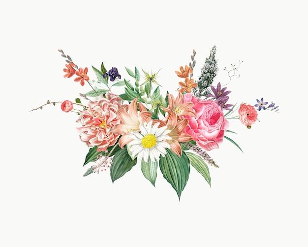 Mieszany bukiet kwiatów