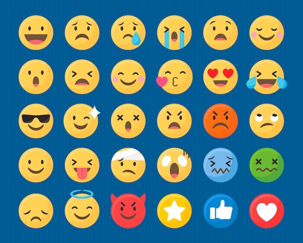Mieszany zestaw emotikonów