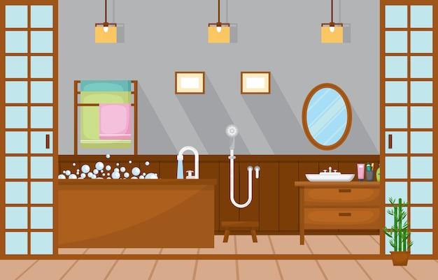 Mieszkalna umeblowana łazienka