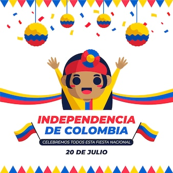 Mieszkanie 20 de julio - independencia de colombia illustration