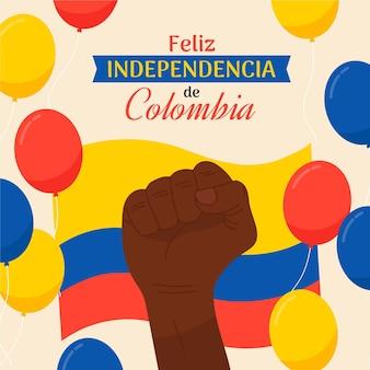 Mieszkanie 20 de julio - independencia de colombia illustration