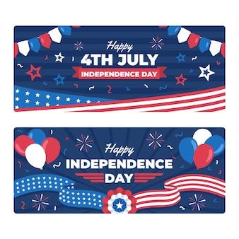 Mieszkanie 4 lipca - zestaw banerów dzień niepodległości