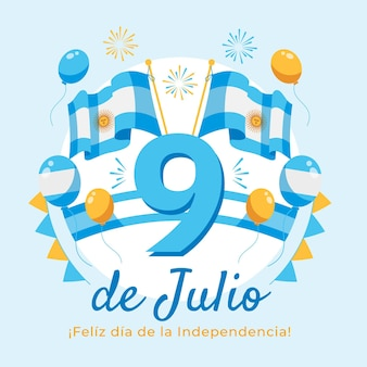 Mieszkanie 9 de julio - declaracion de independencia de la argentina illustration