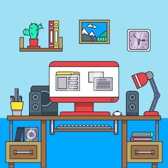 Mieszkanie kreatywny roboczy