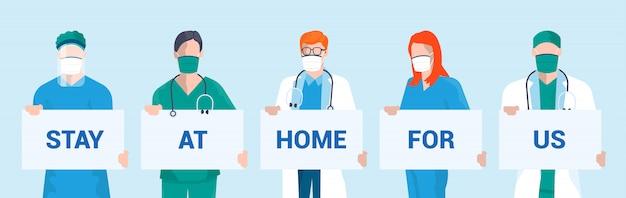 Mieszkanie nowoczesny design ilustracja kampanii stay at home