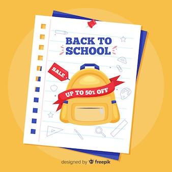 Mieszkanie powrót do szkoły sprzedaży tła