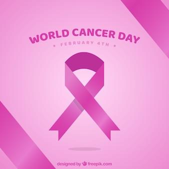 Mieszkanie różowy światowy nowotwór dnia tło