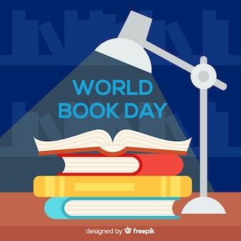 Mieszkanie świat książki dzień tło
