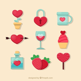 Mieszkanie valentine elementy dzień spakować