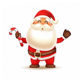 Mikołaj niosący trzciny cukrowej