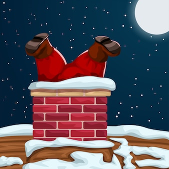 Mikołaj utknął w kominie