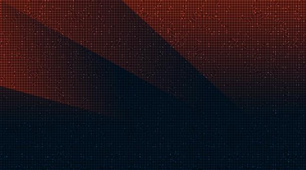 Mikrochip czerwony i niebieski obwód na tle technologii, koncepcja hi-tech cyfrowe i bezpieczeństwa