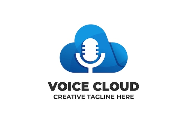 Mikrofon cloud podcast logo