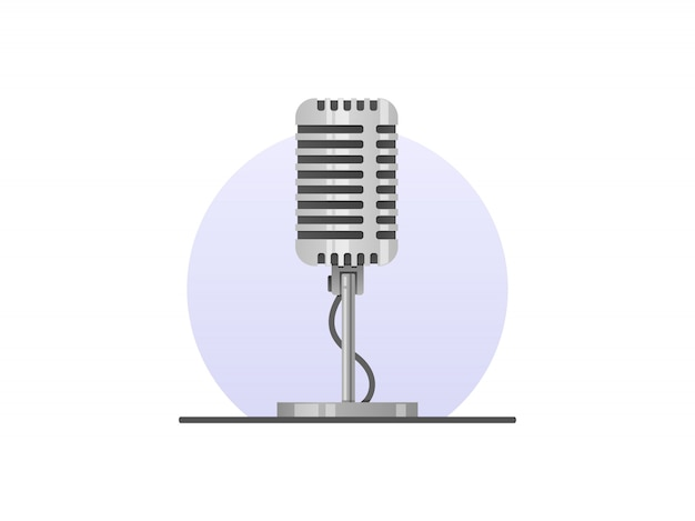 Mikrofon ze stojakiem