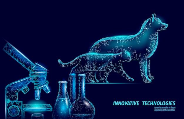 Mikroskop sylwetki psa i kota