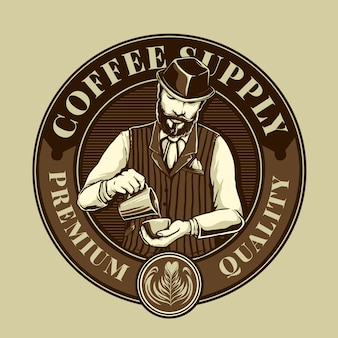Miksery do kawy w logo kawiarni