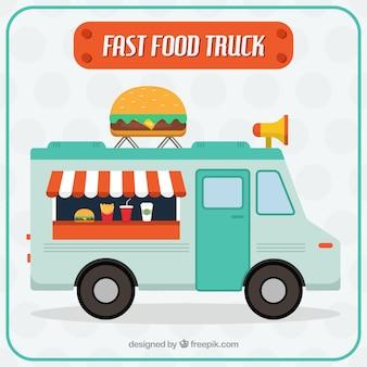 Miła szybka ciężarówka żywności