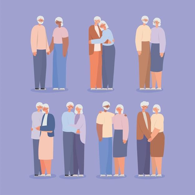 Miłe postacie dziadków
