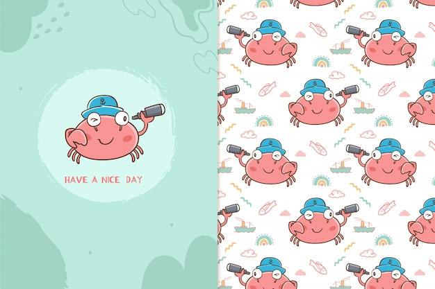 Miłego dnia wzór krabów