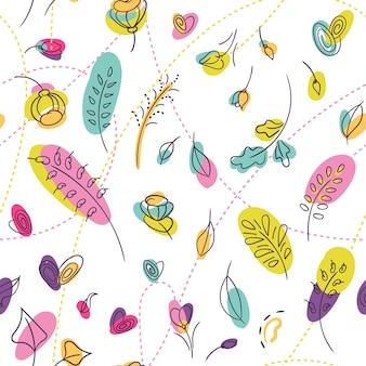 Millefleur wzór z letnich kwiatów. natura kwiatowy wzór.