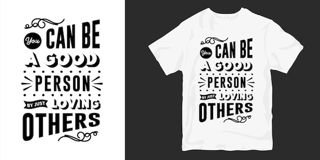 Miłość i romantyczne cytaty z napisem t-shirt typografii