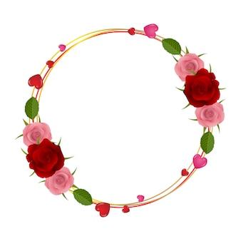 Miłość i romantyczne tło z kwiatami i kształt serca