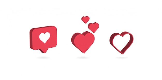 Miłość ikona izometryczny design