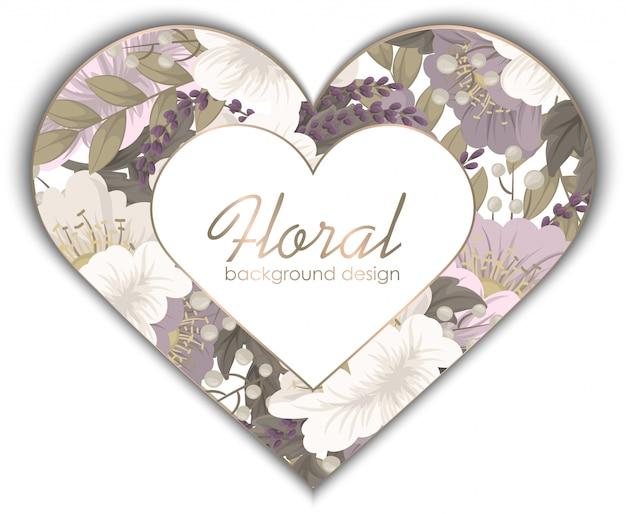 Miłość kwiat rama walentynki