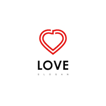 Miłość logo design vector