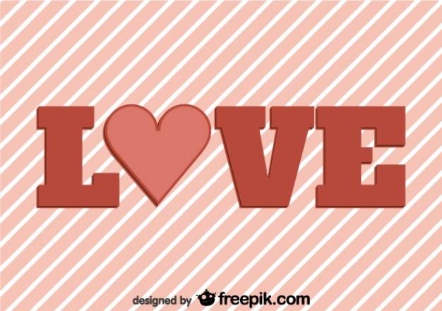 Miłość na tle paski retro karty projektu