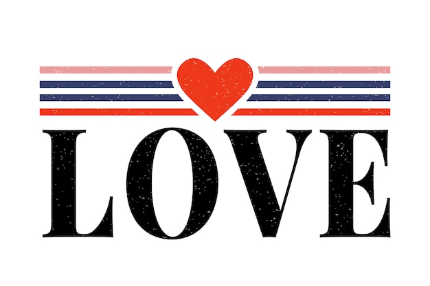 Miłość napis slogan nowoczesny slogan mody