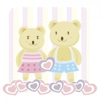 Miłość niedźwiedzie ilustracja
