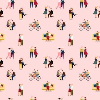 Miłość pary ludzi wzór