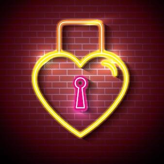 Miłość plakat z neonów wektor ilustracja projektu