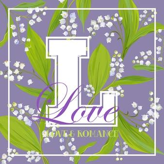 Miłość romantyczny kwiatowy wzór na nadruki, tkaniny, koszulki, plakaty