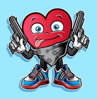 Miłość strzału wektor