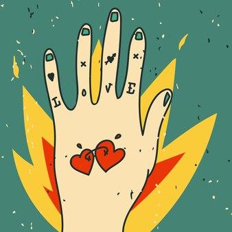 Miłość tattoo ręka