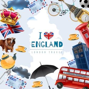 Miłość tło podróży anglii