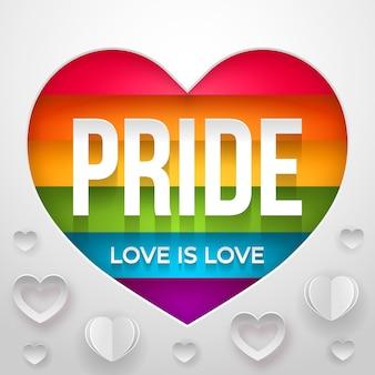 Miłość to koncepcja dnia dumy miłości