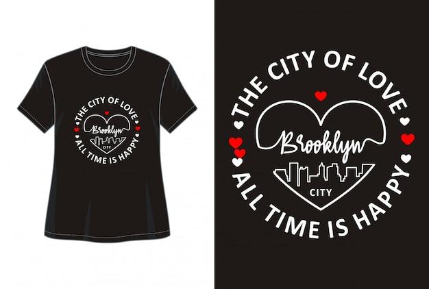 Miłość typografia do druku t shirt