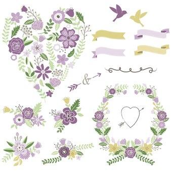 Miłość w kształcie serca układ kwiatowy