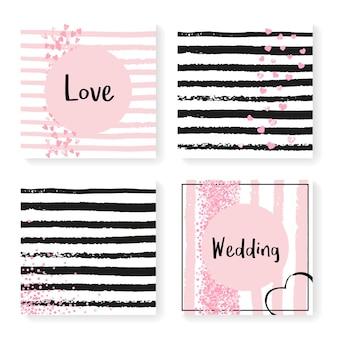 Miłość w tle. biały karnawał gwiezdny pył. zestaw tapet noworocznych. rose party starburst. okładka złoty sen. różowa ulotka premium. farba abstrakcyjna. tło miłości w paski