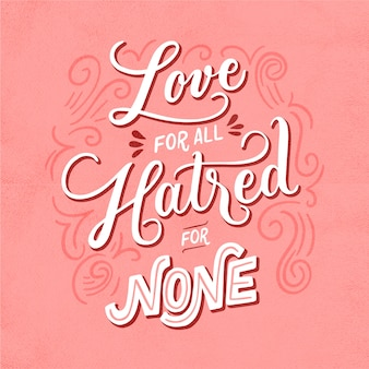 Miłość wiadomość w stylu vintage
