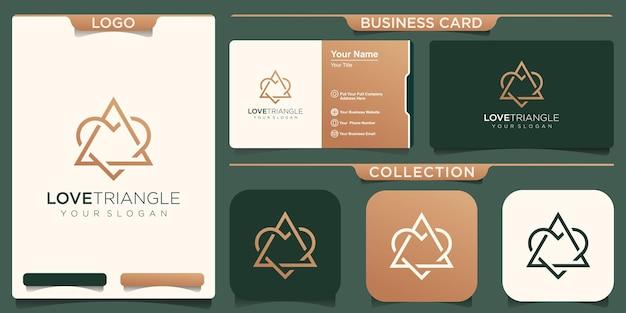 Miłość z inspiracją do projektowania logo trójkąta